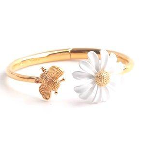 Kate Spade Into The Bloom Daisy Bee Cuff Bracelet